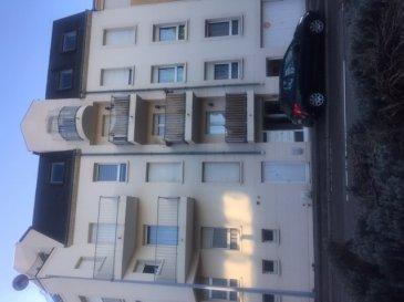 Nous VENDONS au 22 de la rue Clotilde AUBERTIN, soit à proximité immédiate de la gare SNCF de METZ (Moselle),  Un appartement T3 avec balcon, cave et garage fermé.  Il offre une surface de 71,98 m2 comprenant notamment :  Un séjour et cuisine de 15,85 m2 avec accès à un balcon de 2,20 m2 orienté Est. Un salon de 16 m2 Deux chambres de 12,54 et 11,58 m2 Une salle de bains de 4,65 m2 WC séparé.  Avec aussi une cave de 11,25 m2 Un garage fermé pour le stationnement d\'une voiture.  *** Double vitrage châssis PVC OB *** Chauffage individuel au gaz de ville *** Porte d\'entrée blindée.  L\'appartement est actuellement loué pour un loyer net propriétaire de 735 €.  Charges de l\'ordre de 90 €.  CONTACT :  Gérard STOULIG - Agent commercial au : 06 03 40 33 55 ou l\'agence au : 03 87 36 12 24.