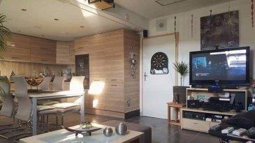 Appartement d'une surface habitable de 85m2 + combles aménagés.  Situé à Differdange/Fousbann à deux pas du nouvel Auchan et transports publics, commerces.  Il se compose comme suit:  Hall d'entrée, nouvelle cuisine équipée ouverte sur living, salle de bain: baignoire + douche et toilette, 2 chambres à coucher dont 1 chambre avec dressing dans les combles aménagés.