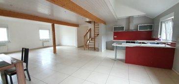 Duplex Stiring Wendel. Appartement duplex, spacieux de 135 m², dans une petite copropriété, comprenant :<br/>un hall d\'entrée, un séjour ouvert sur une cuisine équipée, une salle de douche, une chambre et 2 chambres à l\'étage.