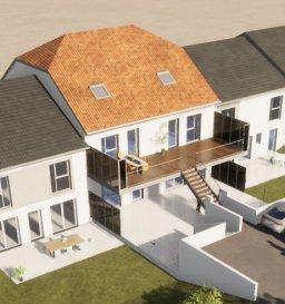 Au fond d'une impasse dans une petite copro de 3 appartements nous vous proposons un appartement en rez-de-chaussée avec entrée privative : - Hall d'entrée, cuisine ouverte sur salon/séjour (46.60m²) avec accès terrasse (45m²), cellier, 3 chambres (9.45m², 13.70m², 14.10m²) WC séparé, salle de bain. Jardin privatif d'environ 50m².  Appartement traversant 2 places de stationnements extérieures privatives (possibilité garage) Chauffage au sol (électrique basse température), revêtement de sol aux choix, douche ou baignoire au choix.  FRAIS DE NOTAIRE REDUIT (2.5%)  Livraison 2eme semestre 2022 FRAIS DE NOTAIRE REDUIT (2.5%)  Contact Julien FEDELI : 06 45 86 33 32