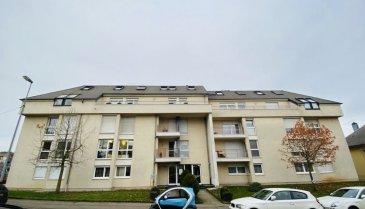 Grand appartement de 111,06m2, situé à Differdange:  - Hall d'entrée - Cuisine équipée (12,44m2) avec terrasse (5m2) - Salon / Living (31m2) avec balcon (5m2) - 2 chambres à coucher (27m2 et 16m2) - Salle de bains (5,40m2) - WC  - Débarras (1,88m2)  - 2 Caves (7m2 et 6m2)  - Garage pour 1 voiture   Nous vous invitons à nous rendre visite ou contacter l'un de nos commerciaux pour plus d'informations.  M. Moura Jemp  +352621216646  M. Marc Risch  +352621210333  Les surfaces et superficies sont indicatives Rejoignez-nous sur Facebook : Newjomar Belval