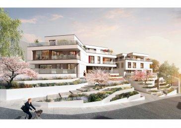 A vendre à Niederanven/Hostert un appartement au rez de chaussée d'une résidence de 5 unités avec ascenseur comprenant, un hall d'entrée, un séjour avec cuisine ouverte (58,71m2), trois chambres (18,26, 13,64 et 13,78m2), un bureau, une salle de bain, deux salles de douche, une toilette séparée, deux terrasses, un jardin (138,44m2), une cave et deux parkings lifts.  Classe énergétique A-A. Panneaux solaires. Livraison milieu 2021.