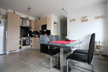 Real G Immo, vous présente en exclusivité ce bel appartement avec une surface habitable de +/- 68 m² situé à Rumelange.<br><br>Celui-ci se compose comme suit:<br><br>- Hall d\'entrée désservant toutes les pièces de l\'appartement, <br>- Une cuisine équipée ouverte sur le living,<br>- Un wc séparé,<br>- Une salle de douche,<br>- 2 chambres à coucher,<br><br>A ce bien s\'ajoute une cave privative ainsi qu\'un emplacement parking intérieur. <br><br>Pour plus de renseignements ou une visite des lieux (également possibles le samedi sur rdv), veuillez nous contacter au 28.66.39.1. <br>