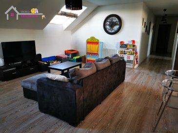 A 10 min de Lunéville, A louer un spacieux appartement en duplex de Type F4 de 120m2 comprenant une cuisine équipée, un séjour, trois chambres, salle de bain, wc, un cellier. Une place de parking