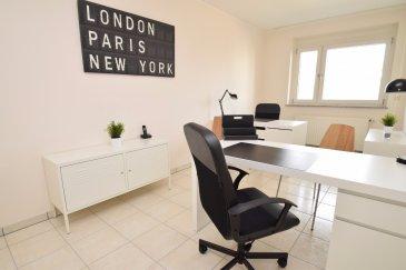 Julien Feld & RE/MAX Select vous proposent ce bureau de 16 m² meublé pouvant accueillir 2 postes de travail. Ce bureau est situé dans un local complètement rénové comprenant 5 bureaux. Mise à disposition d'une kitchenette, de toilettes, d'une ligne téléphonique et d'un accès internet (inclus dans les charges).