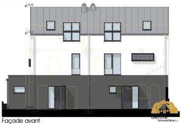 !!!! FUTURE CONSTRUCTION !!!<br><br>Gentile Immobiliere vous propose une maison unifamiliale jumelée de 138 m2 à Walferdange.<br><br>Le bien est composé de :<br><br>- 4 chambres à coucher<br>- 2 Salles de bain<br>- Cuisine équipée<br>- Salle à manger<br>- Salon<br>- WC séparé<br>- Buanderie<br>- Cave<br>- 2 emplacement exterieur<br>- Terrasse<br>- Jardin<br><br>Le prix de la maison est TVA 3%<br><br>Si vous souhaitez visiter ce bien ou pour plus d\'informations, veuillez-nous contacter au 28 79 09 09 ou par email : info@gentileimmobiliere.lu<br />Ref agence :5110078