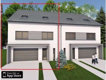 Magnifique maison EN CONSTRUCTION  jumelé de 4 chambres à coucher, d'une surface habitable de 182,01m² en future construction, sur un beau terrain de 5ares13ca,  dans le nouveau lotissement