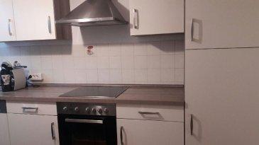 F3 cuis équip gge jardin ds la copro. YUTZ - Appartement F3 de 61 m² carrez, 69 au sol,  dans petite résidence au 3ème et dernier étage comprenant : séjour de 20m², cuisine équipée de 12 m², 2 chambres de 10 m², sdb, wc séparé, terrasse couverte prolongeant le séjour, garage, jardin en commun, petite copropriété de 3 appartement située dans une impasse, en bon état,     Loyer : 550 euros + 40 euros de charges    DPE E chauffage individuel 519 € annuel  Honoraires location : 478.80 € dont 90 € d'honoraires d'état des lieux,  Dépôt de garantie : 550 €    Libre 1er Août  Agora Thionville : 03 82 54 77 77