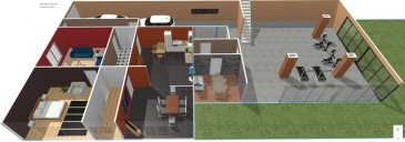 Grande maison de village d'env. 150 m2  avec partie atelier/ grange  d'env. 100 m2.  Partie habitable comprenant une cuisine, un salon, un séjour, 2 chambres, une salle de bain avec wc séparé. A l'étage, une deuxième cuisine vous attends, avec une deuxième salle de bain également, 4 chambres. Combles au même niveau aménageables. Possibilité de faire deux appartements Grande terrasse panoramique avec une jolie vue sur le clocher de l'église.  Grand Atelier de 100 m2 avec garage pour bricoleur ou artisans.  Chauffage fioul et électrique.  Prévoir  travaux de rénovation.  MANDAT EXCLUSIF  FRAIS D'AGENCE A CHARGE VENDEUR.  Photos et perspectives non contractuelles - Suggestions d' aménagement -plus de renseignements en Agence.