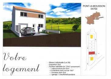 Accès direct A31.  Maison de ville F6 neuve  comprenant rdc : piéce de vie ouverte sur terrasse, WC, garage, buanderie, à l'étage 4 chambres, s de bains, WC, mitoyen de chaque coté, livré clef en main 3 éme trimestre 2020  lot 4A
