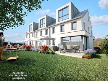Maison Jumelée nouvelle construction sur Terrain de 3,38 ares  25 rue des champs Steinsel-Müllendorf (Bongerten) Construction et finitions de haut standard Orientation Idéale Sud-Ouest Niveau garage et caves : 62 m² Rez de jardin : Living - Cuisine ouverte 65,5 m² 1er Etage 63 m² trois chambres et une salle de bains  2eme Etage Suite avec Salle de Bains  :  30 m² TOTAL: 220.5 m²     Ref agence :916960
