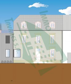 ---------- RÉSERVÉ ----------  Duplex situé au 1. étage et aux combles d'une résidence de 4 appartements.  Le bien se compose d'un hall d'entrée, 3 chambres à coucher,  2 salles de bain, un WC, un séjour avec une cuisine (non équipée), ainsi qu'une terrasse de 11.22 m2.  Le bien compte également deux emplacements/parkings intérieurs au sous-sol.  Le prix de ce bien est de 720 174,00 € HTVA.    Description de l'environnement : Noertzange est une section de la commune de Bettembourg située dans le canton d'Esch-sur-Alzette.  Bettembourg possède une infrastructure touristique complète : piscine couverte avec toboggans et wellness (saunas, bain turc, hammam), hôtels, nombreux restaurants (français, italiens, chinois) et cinéma.  Détente, culture et découverte sont au rendez-vous : le Parc Merveilleux avec ses contes de fées animés, réserve d'animaux, oiseaux exotiques, aires de jeux pour enfants ainsi que des attractions telles que train miniature, poney express ou minicars offre un se?jour inoubliable.  Avec son programme « Beetebuerg life », Bettembourg organise régulièrement des activités culturelles telles que concerts, théâtre, expositions, cinéma plein air, fêtes populaires et manifestations sportives. Depuis 2010, la commune de Bettembourg organise la Nuit des Merveilles, un festival nocturne des arts de la rue qui connaît un grand succés chez grands et petits.  Côté détente, Bettembourg offre des promenades dans le Parc Jacquinot, dans les réserves naturelles et dans l'étendue de nos forêts, des randonnées sur les circuits auto-pédestres ainsi que parcours de fitness ou circuits vélos pour les sportifs.