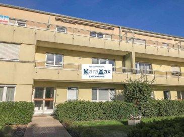 L'agence immobilière MaraMax s.àr.l vous propose ce bel appartement situé dans la commune de Bridel, à moins de 10km de Luxembourg Ville.  Dans une paisible petite résidence avec ascenseur, le bien profite d'une belle luminosité et de deux grands balcons (+/-10m2 chacun).  Proche des axes autoroutiers et de toutes les commodités, l'appartement se compose comme suit:  -Hall d'entrée, -Living avec accès au premier balcon, -Cuisine équipée indépendante, -Salle de bain avec baignoire balnéothérapie, deux vasques et WC, -WC séparé, -2 spacieuses chambres à coucher ( +/-13m2 et +/-18m2) avec accès au deuxième balcon ( donnant sur l'arrière de la résidence ), - 2 Balcons de +/- 10 m2 chacun.  A ceci s'ajoute une cave privative et une buanderie commune. Disponible de suite!! Possibilité d'acquérir un garage box en supplément!!  Pour plus d'informations par rapport à ce joli appartement, n'hésitez pas à nous contacter.