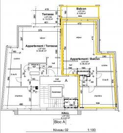 Réservez votre appartement maintenant!  Immo Color Sàrl vous propose à la vente en futur achèvement  dans une nouvelle construction, fin des travaux fin 2021  Un appartement avec une surface habitable de 66.49m², se compose d'une chambre a coucher avec salle de bain séparé, une toilette séparé ainsi que deux emplacements un extérieur et un intérieur, une cave et un balcon de 9.59m² font parti de cette vente.  Le prix annoncé est avec 3% de TVA (Taux super réduit TVA 3% Faveur fiscale en matière de TVA. Sous réserve d'agréation de la part de l'administration de l'enregistrement et des domaines)  Pour toute information complémentaire n'hésitez pas à nous contacter Tel: 691080103 www.immocolor.lu