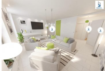 Appartement 2 chambres de 89,77m² û Rez-de-chaussée  -Entrée individuelle vers votre appartement -Une très grande pièce de vie : salon/salle à manger liée à une cuisine ouverte le tout sur une surface de 48,61m² -2 chambres à coucher avec parquet semi-massif d'une superficie de 11,67m² chacune -Salle de bain de 5,86m² avec douche italienne -WC séparé -Débarras de 3,47m² -Cave privative de 3,52m² au sous-sol En option: emplacement intérieur réservé pour la location situé à 2 min. à pied de la résidence!  Cet appartement dispose d'une belle luminosité grâce a ses fenêtres et porte fenêtres d'une hauteur de 2,10m équipées de triple vitrage avec store à lamelles. Un chauffage écologique et économique vous permettra de limiter vos dépenses grâce au chauffage urbain. Equipé avec système de chauffage au sol   Construit avec des matériaux de qualité supérieur et dans le respect de l'art il vous est possible d'aménager l'intérieur selon vos besoins et désirs.   Idéalement situé au cœur de Diekirch, la proximité des commerces et des transports en commun vous facilitera dans votre quotidien.   Pour plus d'informations contactez-nous au: 281122-1 ou info@homesell.lu   Prix de vente à 3% de TVA sous réserve de l'accord de l'Enregistrement  (Livraison 2019)  Ref agence :8