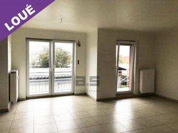 A.S. Real Estate, vous propose à la location un appartement de 2 chambres avec balcon, situé au premier étage d'une petite copropriété à Esch/Alzette, à quelques minutes du site de Belval et proche de toutes commodités (transports en commun : train, bus, commerces etc).  Celui-ci se compose d'un hall d'entrée, d'une cuisine entièrement équipée et ouverte sur un grand living de +/- 30m² avec accès à un balcon de +/- 4m², de 2 chambres de +/- 15m² et +/-13m² et d'une salle de bains de +/- 5.50m² équipée d'une baignoire et d'un w.c.  Un emplacement de parking extérieur complète ce bien.  Pour tous renseignements ou pour convenir d'une éventuelle visite, veuillez nous contacter au (+352) 621 274 674 ou à info@as-estate.lu