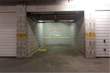 Veuillez contacter Jean-Claude Brunet pour de plus amples informations : - T : 661 101 776 - jean-claude.brunet@remax.lu  RE/MAX, Spécialiste de l'immobilier à Esch-sur-Alzette, vous propose, à la location, le garage box intérieur n°272, de 5,40 m de profondeur et de 2,80 m de largeur, au niveau 2 de la résidence