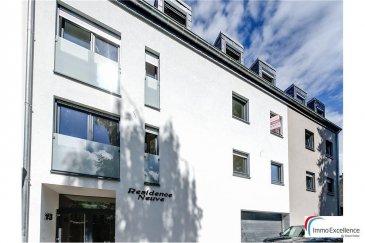 IMMO EXCELLENCE vous propose ce joli appartement lumineux haut standing dans la RESIDENCE NEUVE. L'appartement ( LOT 020 ) d'une superficie de 120.48m2 situé au 2ème étage se compose comme suit : Un hall d'entrée, trois spacieuses chambres-à-coucher ( 15,14, et 13 m2 ), un living avec salle-à-manger ( +- 50 m2 ), une salle-de-douche, une cave, un débarras ( 7.31 m2 ), deux balcons d'une superficie totale de 17.54m2.  Possibilité d'acquérir un emplacement intérieur moyennant un prix supplémentaire de 35.000.-Eur ( TTC ).  Il s'agit d'une petite résidence de seulement 9 unités. Finitions haut standing. Chauffage au sol, volets électriques ainsi qu'armoires encastrées. L'appartement est parfaitement situé au centre-ville d'Echternach et à proximité de toutes commodités.  A voir absolument !! Ref agence :3426647