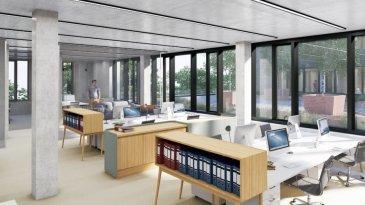 LEUDELANGE, Zone d'activité AM BANN,  TRIOLOGIE: Immeuble neuf mixte  comprenant de nouveaux bureaux et locaux commerciaux à louer.  Son architecture sobre et intemporelle s'intègre parfaitement dans son environnement et associe des surfaces mixtes dont les fonctions se complètent et s'additionnent.Les concepteurs du projet Triologie ont eu à cœur d'optimiser les surfaces tant au niveau des performances énergétiques qu'au niveau du confort de vie des utilisateurs. Rez-de-chaussée: 2.240 m2 de commerces à louer qui bénéficient d'une excellente visibilité et d'une accessibilité aisée. Les surfaces commerciales sont divisibles à partir de 200 m2 environ. Chaque unité disposera d'une entrée et d'une enseigne en façade. De nombreuses places de parkings sont disponibles, y compris un parking public en sous-sol. Des halls commerciaux à l'entresol permettent de grandes possibilités de stockage. Commerce D de 277 m2 au rez-de-chaussée,  Prix : entre 20 et 22 euros/ m2 HTVA Avances sur charges : 3 euros /m2 Garantie locative : 6 mois de loyer et charges TVA comprise Places de parking disponibles au -1 et -2 à 150 euros /place  Place de parking extérieur : 100 euros /place Hauteur libre : entre 3,2 et 3,6 mètres, triples vitrages, certaines ouvrantes,  Les occupants et les visiteurs  pourront en outre bénéficier d'un cadre agréable: jardins paysagés terrasses aménagées pour travailler ou se ressourcer. L'immeuble dispose de restaurants et crèche.  Contact et visites : Rosalba MAITRE tél.: 691 550 189