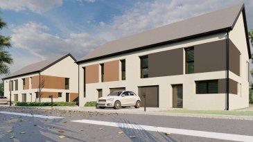 LOT 2 Le groupe immobilier et de construction, Immo Color Promotions et AD Constructions, vous proposent la vente en futur achèvement 1 maison moderne aux amples espaces habitables intérieurs et extérieurs. Cette maison se situé à Troine-Route sur la rue Op Patzerat. Elle sera construite sur un terrain de 4ares07ca, d'une surface habitable de 149.7m², se composant au rez-de-chaussée d'un bel  escape living, salle à manger, terrasse de 10,80m² ainsi qu'un jardin d'environ 3ares, 4 chambres à coucher, 2 WC, garage pour une voiture et emplacement extérieur font parti de ce bien d'exception. Le prix affiché est calculé avec 3% (sous condition d'acceptation d'application du taux super réduit, de la part de l'Administration de l'enregistrement et des domaines)  Plus d'informations? N'hésitez pas à nous contacter contact@immocolor.lu www.immocolor.lu Tél: 691 080 103