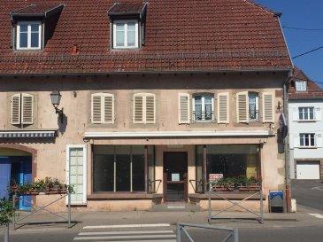 DIEMERINGEN.  Idéalement situé au centre de la rue commerçante de Diemeringen avec grandes vitrines. Beau local commercial de plus de 80 m2 avec accès handicapé composé d'une pièce principale, un bureau, une pièce d'eau avec évier et un wc. Chauffage gaz de ville + climatisation. A saisir. Prix : 75 800 EUR FAC dont 8,2 % d'honoraires charge acquéreur.