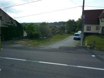 Nous vendons en exclusivité route de Benting, commune de BOUZONVILLE ;  Un terrain à bâtir d\'une superficie de 8,00 ares et d\'une largeur sur rue de 9 m environ. Il est cadastré Section 10, parcelle N° 390.  Ce terrain est situé entre les numéros 17 et 19 de la rue de Benting.  L\'emplacement hors lotissement est libre de construction. Il n\'est pas viabilisé, mais les raccordements sont aisés.  DISPONIBLE DE SUITE  CONTACT :  Gérard STOULIG Commercial au : 06 03 40 33 55 ou l\'agence ABEL IMMOBILIER au 03 87 36 12 24.  NB : Les frais d\'agence sont inclus dans le prix annoncé.