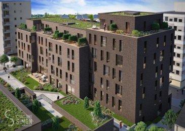 Lot A11 - Penthouse-Terrasse, de 68,20 m2 habitable avec une terrasse de 76,96 m2 et une cave de 8,81 m2 ce qui fait une surface utile 153,97 m2, au sixième étage avec ascenseur dans la Résidence OPUS à Differdange. il se compose comme suit: Hall d'entrée, toilette séparée, séjour, salle à manger, cuisine ouverte, balcon débarras (Cellier), hall de nuit, 1 chambre à  coucher (13,01 m2), salle de bain. Au split-level un emplacement intérieur et au sous-sol une cave privatif de 8,81 m2. Possibilité d'acquérir en option: une cuisine équipée. Pour de plus amples renseignements contactez Christine SIMON Tel: 621 189 059 ou 26 53 00 30 ou par mail: cs@christinesimon.lu. Ref agence :A11- Bloc A - Penthouse
