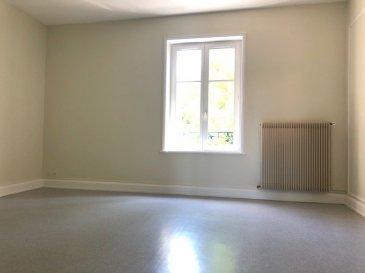 3 pièces - 80 m2.  Grand appartement trois pièces (80 m2) situé au deuxième étage d\'un immeuble rue Henri Bazin à Nancy. Il comprend un entrée, un cuisine séparée, un séjour, deux chambres, une salle de bains et WC séparés.<br> Chauffage central individuel au gaz.<br> Libre de suite.<br>
