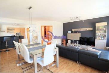 L'agence immobilière New Keys a le plaisir de vous proposer en exclusivité la vente de ce charmant appartement, dans une construction de 2002, à proximité de toutes commodités au sein de la ville de Rumelange  L'appartement dispose d'une surface de 100m2 et se compose comme suit:  -Hall d'entrée/couloir avec placard  -Cuisine équipée ouverte sur living de ± 46 m2 -Chambre 1 de ±15 m2 -Chambre 2 de ± 16 m2 -Salle de douche ± 5.80m2 -Wc  A cet agréable appartement s'ajoute un balcon de 5m2, cave privatif ainsi qu'un garage   N'hésitez pas à nous contacter au 352 621 647 509 ou par mail ahenriques@newkeys.lu pour plus d'informations et/ou une éventuelle visite.  COVID: Pour votre sécurité, nos visites sont effectuées avec des masques.  Le prix s'entend frais d'agence inclus et payable par le vendeur.  Nous recherchons en permanence pour la vente et pour la location, des appartements, maisons, terrains à bâtir pour notre clientèle déjà existante. N'hésitez pas à nous contacter si vous avez un bien pour la vente ou la location.  Estimation gratuite  Ref agence : 5003560