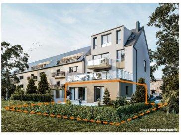 Immo Nordstrooss vous propose un appartement de haut standing à vendre une petite résidence de 4 unités. <br>La résidence se trouve dans un quartier calme et désirable de Bonnevoie, proche des écoles, salle de sports, commerces et transports. Parking disponible sur la rue. <br><br>L\'appartement de +/- 106m2 se compose comme suite:<br>- rez de chaussée: <br>- living, cuisine,<br>- 3 chambres a coucher, <br>- 2 sdb, <br>- WC séparé, <br>- grande terrasse avec jardin, <br>- grande baie vitrée donnant sur jardin, <br><br>Prix: 1171000 (TVA 3%) avec parking disponible au sous sol<br><br>Pour plus de renseignements veuillez nous contacter au 691 850 805.<br>