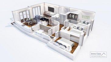 *** RESTE À VENDRE DERNIER BIEN ****  ImmoCasa vous propose un penthouse en future construction dans une résidence à 4 unités comprenant:  Double séjour et cuisine  38.32 m2 3 chambres à coucher 11 m2, 11m2 et 14 m2 (suite parentale) 2 salles de bains 4.60 m2 et 7.73 m2 Balcon  6 m2 Cave 6 m2 emplacement parking Jardin privatif  60 m2  Les prix affichés avec la TVA de 3%  Disponibilité fin 2021  Proche de toutes commodités, axe autoroutier, crèches, écoles, hôpital, commerces etc.  Pour plus d\'informations, veuillez contacter l\'agence. N\'hésitez pas à nous contacter pour vendre votre bien. Nos estimations sont gratuites.  Nous recherchons en permanence pour la vente et pour la location des appartements, maisons, terrains à bâtir et projets autorisés pour clientèle existante. Achat éventuel par notre société.  Ref agence : 1906595