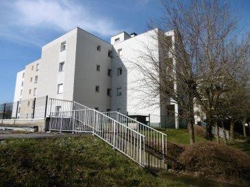 Appartement Thionville 3 pièce(s). Appartement de  61,27 m² composé d'une entrée avec placard, une pièce à vivre de 17,44 m² donnant sur un balcon de  2.85 m², une cuisine simple, un WC individuel, une salle de bain et deux chambres de 11,09 m² et 13,04 m². Vous disposerez également d'une cave et d'un place de parking en sous-sol (accès direct par l'ascenseur) Double vitrage PVC - 2010 Charges annuelles de 1300 euros par an.  Copropriété de 16 lots    Charges annuelles : 1300 euros.