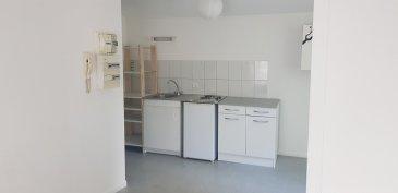 Studio - 20.32 m2.  Situé rue du Colonel Dirant à Malzéville, studio de 20 m2 au deuxième étage. Il comprend une pièce principale avec kitchenette, une salle d\'eau avec WC. + un emplacement de stationnement et un jardin commun.<br> Chauffage inidividuel électrique. Disponible fin Août 2021.<br><br>
