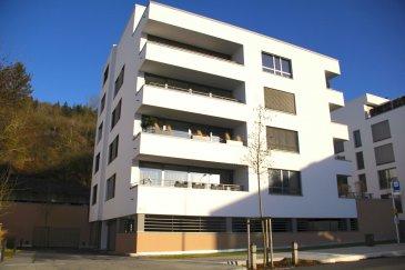 Très bel Appartement 2 chambres coucher et 2 salles de bains, aux finitions haut de gamme et la vue imprenable situé?dans un immeuble de style contemporain à basse consommation d'énergie CLASSE A-B. L'appartement dispose de nombreuses armoires sur mesure, d'un balcon, d'une très grande cave et d'un parking intérieur.  Orientation du balcon : SUD / SUD-OUEST !  Exemples de finitions : - VMC (Ventilation mécanique contrôlée) - chauffage au sol - chaudière à gaz à condensation - triple-vitrage - volets électriques - façade super-isolante - dalles sur plots sur le balcon - salle de bains et salle de douche design - salle de bains avec fenêtre - cuisine équipée de qualité ouverte sur le living - parquet véritable - alarme anti-intrusion - vidéophone - porte d'entrée de sécurité ? Particularité du bien : L'immeuble dispose d'une conciergerie privée !  Etat général : EXCELLENT ! Tous les murs et plafonds de l'appartement seront remis en peinture avant l'entrée du nouveau locataire ! Disponibilité : 01.09.2021 !  N.B. Les animaux domestiques ne sont pas autorisés par le propriétaire !  - A 5 minutes du Centre de Luxembourg-Ville - A moins de 10 minutes du Kirchberg - A 5 minutes des grands axes autoroutiers - Arrêt de bus et gare de Dommeldange à proximité? - Ecole primaire à proximité - Supermarché CENTRE ESPACE et CACTUS à moins de 5 minutes