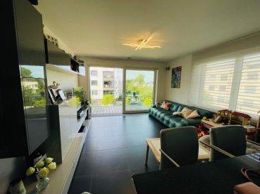 En exclusivité chez Active Invest:  Jolie appartement ä Cessange (Nouveau Quartier)  de +/-74m2 habitable avec balcon (+5m2) et proche de Luxembourg-Ville   Cet appartement se situe au 2ieme étage (avec ascenseur) et se compose comme suit :  - Hall d'entrée (avec porte de sécurité) et vestiaire.   -Salle de bain   - WC séparé   -  Cuisine ouverte - Living  avec accès au balcon + débarras séparé  - 1. Chambre à coucher 14 m2  - 2. Chambre à coucher 12 m2    L'appartement dispose aussi d'une cave privative de +/-6m2 et d'un emplacement intérieur, qui sont inclus dans le prix de ventre.  La résidence date de 2015, dispose d'un ascenseur, local vélos et buanderie commune.  En général :  • Excellente Finition et excellent état  • Centrale électrique qui permet de gérer l'installation via le smartphone  • Garantie décennal (bâtiment achevé en 2015)  • Faibles charges mensuelle de 200€  • Triple vitrage  Situation géographique idéale ; Arrêt de bus devant la résidence, crèche, salon de beauté, 2 minutes à pieds du parc de Cessange, 7 minutes à pieds de l'école précoce et primaire de Cessange, 5 minutes en voiture de  Cloche d'or Shopping Center/ Auchan.    L'appartement est disponible le 31 mars 2022.   Vous avez un bien à vendre, n'hésitez pas à nous contacter !   Contactez svp le +352 691699240 pour cette annonce!   Apartment for sale in Luxembourg-Cessange  Exclusively at Active Invest:  Nice apartment of +/- 74m2 with balcony and close to Luxembourg-City  This apartment is located on the 2nd floor (with elevator) and is composed as follows:  - Entrance hall (with security door) and cloakroom.  - Bathroom   - Separate WC   - Kitchen- Living with access to the balcony + separate storeroom  - 1. Bedroom 14 m2  - 2. Bedroom 12 m2    The apartment also has a private cellar of +/- 6m2 and an interior parking, which are included in the price.  The residence dates from 2015, has an elevator, bicycle storage and shared laundry room.   Ideal geographical location; Bus stop in fr