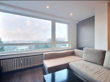 Bel APPARTEMENT de 41 m2, totalement rénové, 3ème étage avec vue imprenable sur la ville de Luxembourg, à 150 m du CHL.  L'appartement se compose comme suit:  Cuisine équipée, Séjour, 1 chambre à coucher, Salle de Bains, Balcon.