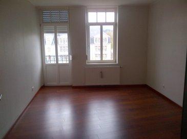 appartement au 1er étage entièrement repeint, hall d'entrée, 2 chambres, living, cuisine avec cuisine équipée, salle de douche, débarras, cave. chauffage au gas individuelle.