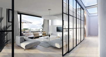Luxembourg-Muhlenbach  En construction   Penthouse 4.1 (lot 046) neuf situé au quatrième étage avec une surface habitable de +/- 67.49 m2 se composant comme suit: d'un hall d'entrée, d'une chambre à coucher, d'une salle de douche, d'un vaste living avec une cuisine ouverte qui donne accès à une terrasse de +/-18,15 m2 et un espace verdure de +/-4,40m2.  N'hésitez pas de nous contacter en cas d'interêt :  info@newgest.lu      ou     691125293