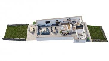 Efapromo vous propose un appartement en réez de jardin, dans une résidence se composant de 8 unités et libres de 4 côtés à Niederkorn. Absolument à saisir, l'appartement contient 105m² de surface utile. Traversant, lumineux et fonctionnel, vous serez séduit par la première terrasse attenant à la pièce de vie principale avec une surface de 20m² donnant également à un jardin privatif. une deuxième terrasse ( côté rue) de 12.27 m² attenants à une chambre et à la salle de bain . La perspective que nous vous proposons est proche de la réalité mais vous pouvez cependant apporter votre touche personnelle, afin d'avoir l'appartement dont vous avez toujours rêvé. Pour plus d'informations, contactez Emmanuel au 691 355 050  mail : manuefapromo@gmail com