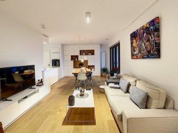 PLM Immobilière & Gestion du Patrimoine vous propose à la location un appartement de Luxe meublé dans une Résidence de 2017  Appartement de 70m² au 3ème étage avec ascenseur,  Lumineux et meublé haut de gamme, il se compose comme suit :  - 1 Chambre à coucher (Suite parentale) avec salle de bain et dressing sur mesure - 1 Espace ouvert cuisine et living donnant sur une terrasse de 6m² bien orientée - W.C. Séparé - 1 Emplacement de parking dans la Résidence  Cet appartement haut de gamme est loué entièrement meublé avec beaucoup de goût! Disponibilité au 20 Février 2021  Pour davantage d'informations et visites, veuillez contacter Pierre-Laurent Morimont au +352/691210784  Seuls de bons dossiers seront pris en considération, curieux s'abstenir!