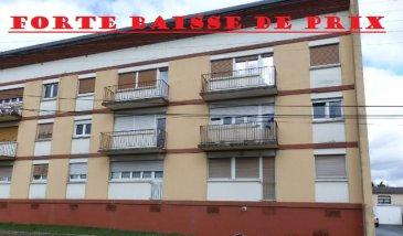** FORTE BAISSE DE PRIX **  NOUS VENDONS à BOUZONVILLE (Moselle)  A proximité du collège de la ville, de la nouvelle piscine et des terrains de sport.   Un appartement F2 avec garage et cave.  Il comprend sur une surface habitable de 50 m2 environ : Un salon séjour de 19,53 m2 ; Une cuisine aménagée de 10,15 m2 ; Une chambre de 9, 33 m2 ; Une salle d'eau avec douche et WC séparé ; Trois placards de rangement.  *** Chauffage individuel au gaz ***Fenêtres double vitrage PVC  DISPONIBLE DE SUITE  CONTACT : Jean-luc MEYER – Agent commercial au : 07 60 13 78 96 Ou l'agence au : 03 87 36 12 24  Les frais d'agence sont inclus dans le prix annoncé.