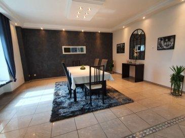 Maison 275m2 + garage 300m2 + jardin 17 ares. A Audun le Roman, maison individuelle de 275m2 comprenant :Au rez de chaussée : cuisine équipée aménagée ( 18.47m2 ) accès terrasse, séjour ( 65.08m2) accès terrasse, wc avec lave mains ( 3.55m2), buanderie cellier (7.07m2)Au 1er étage un pallier (14.38m2) desservant: 2 chambres (18.74m2, 20.81m2) , salle de bains ( 11.74m2) avec baignoire douche meuble vasque wc, 1 suite parentale dressing salle d\'eau (36.51m2)au second: 2 chambres (62.08m2, 9m2) et une pièce (8.86m2) possibilité de future salle de bainsAu sous sol : une chaufferie (20.68m2) et une salle de jeux (32m2 accès jardin)Un très grand garage 300m2 et jardin 17 aresContacter Christelle 06.58.23.24.50- barème honoraires : www.tfimmo.com /nos-honoraires.php - Contact : 0658232450 - Chrisimmo54@gmail.com