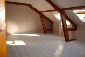 HETTANGE - GRANDE ' en cours de rénovation  Laissez-vous séduire par cet appartement F4 bis de 120 m² au sol et 85 m² en mesurage carrez  dans une petite copropriété récente au 2 ème et dernier étage  offrant un séjour de 35 m² profitant d'une poutraison apparente, 1 cuisine fermée de 12 m², 2 chambres de 12 et 10 m², 1 sde avec fenêtre, 1 bureau, 1 buanderie, 1 cellier, 1 place de parking privative,      L'appartement est en cours de rafraichissement pour les peintres et pour le remplacement du double vitrage Pvc,  Chauffage individuel gaz, Dv Pvc,   Dans une résidence récente et bien entretenue au calme et proche des axes routiers, offrant un extérieur, situé au calme      Proposé à 173 000 '     A propos de la copropriété :   Charges mensuelles 96 ' - 8 appartements   DPE : D chauffage annuel 573 '     Aucune procédure en cours menée sur le fondement des articles 29-1 A et 29-1 de la loi no65-557 du 10 juillet 1965 et de l'article L. 615-6 du CCH.   Honoraires a la charge du vendeur        Agora Thionville : 03 82 54 77 77