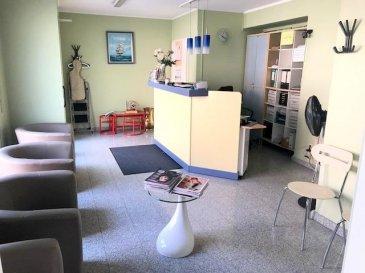****NEW**** Un très beau et lumineux Appartement (actuellement cabinet de dentiste)  au rez-de-chaussée de 50m2 au centre de Niederkorn, se composant comme suit:  - salle d'attente - réception - salle de consultation - salle de bain  La salle d'attente et salle de consultation peuvent être regroupés en une seule pièce.   Description de la situation : Local se situe à proximité de toutes les commodités (bus, commerces, poste etc)  Pour tout complément d'information, n'hésitez pas à nous contactez par téléphone au 691 20 77 88, Nous sommes également disponibles pour organiser les visites le samedi !  Nous sommes, en permanence, à la recherche de nouveaux biens à vendre (des appartements, des maisons et des terrains à bâtir) pour nos clients acquéreurs. N'hésitez pas à nous contacter si vous souhaitez vendre ou échanger votre bien, nous vous ferons une estimation gratuitement.  Ref agence :43