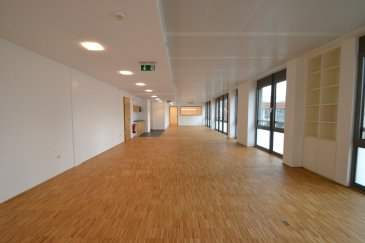Accueillant local pour bureaux en espace ouvert, très lumineux au 3e étage d'un immeuble situé en plein coeur du quartier des affaires de Esch/Alzette, comprenant : - une entrée avec placards - un espace de travail pouvant accueillir 16 places - une kitchenette - une salle de réunion - un local informatique - deux WC séparés (H/F) - une cave au sous-sol  Possibilité de louer un ou deux emplacements parking pour 160.-€/mois chacun.
