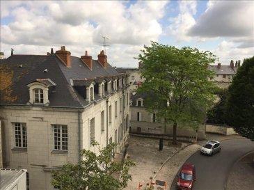 En plein centre de Saumur, dans résidence avec ascenseur, au 3ème étage, agréable appartement  de 42 m², cuisne, séjour, salle d\'eau, wc, une chambre avec placards. Chauffage électrique récent. Bon état, salle d\'eau refaite à neuf.