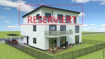 Perl Nennig direkt an der Grenze Luxemburg PROVISIONSFREI Neubauwohnung Penthousewohnung -105,51m2 Wohnfläche  -3Schlafzimmer -Wohn-Esszimmer mit Ausgang zur Dachterrasse -Küche -Bad  -Abstellraum -1 Stellplatz + 1 Carport ( +Aufpreis)