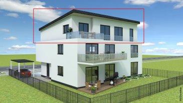 Perl Nennig direkt an der Grenze Luxemburg PROVISIONSFREI Neubauwohnung Penthousewohnung -101m2 Wohnfläche  -3Schlafzimmer -Wohn-Esszimmer mit Ausgang zur Dachterrasse -Küche -Bad  -Abstellraum -1 Stellplatz + 1 Carport ( +Aufpreis)