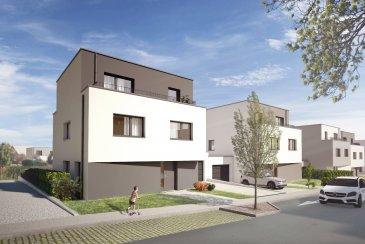 ***NOUVEAUTE HT IMMOBILIER ***   Découvrez en exclusivité notre nouveau projet de construction situé à Oberkorn, composé de 19 maisons unifamiliales.  Au cœur d'un lotissement calme et proche de toutes servitudes, nous vous proposons cette maison de type A jumelée par le garage, à l'architecture moderne et design de ± 203 m² de surface habitable sur un terrain de entre 5,34 et 7,71 ares composée comme suit :  Sous-sol : - une cave de 28 m² - une buanderie de 19 m² - une seconde cave de 22 m² - un hall avec escalier donnant sur le rdv  RDC : - un garage 1 voiture de 30 m² - un séjour (living, salle à manger) de 36 m² - une cuisine ouverte sur le séjour de 12 m² - un bureau de 11 m² - un wc séparé - une entrée/hall avec escalier donnant sur le premier étage - une terrasse donnant sur un jardin  ETAGE 1 : - deux chambre entre 11 et 14 m² - une suite parentale avec salle de bain de 21 m² - une salle de bain  - un hall avec escalier donnant sur le deuxième étage - un vide sur salle à manger   ETAGE 2 (combles) : * Studio 1 chambre de 46 m² : - une chambre de 11 m² - un séjour/cuisine ainsi qu'une terrasse de 31 m² - une salle de bain   Commercialisation exclusive HT Immobilier : 24 55 92 78 / info@htimmo.lu