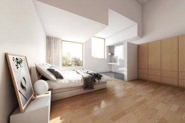 Hier entstehen 4 moderne schlüsselfertige ARCHITEKTENHÄUSER   LOT 2 : Das Terrain ist  4,89 ares groß. Hierauf entsteht eine moderne Doppelhaushälfte mit einer seitlich aus dem Haus rausragender Doppelgarage und  einer Wohnfläche von ca. 184 m² mit insgesamt 4 Schlafzimmern   Weitere verfügbare Größen:  LOT 1 : | 5,29 ares | 819.950 € avec 3% TVA |Wohnfläche: 174 m² netto |  LOT 3 : | 4,77 ares | 823.270 € avec 3% TVA | Wohnfläche: 186 m² netto |  LOT 4 : | 4,77 ares | 793.270 € avec 3% TVA | Wohnfläche: 174 m² netto |  Unser Ziel war es, kompakte Häuser mit intelligentem Grundriss und optimaler Raumnutzung zu entwickeln. Sie zeichnen sich durch eine durchgängige Design- und Formensprache in Kombination mit zukunftsweisender Technik aus und erzeugen ein harmonisches Raumempfinden mit einzigartigem Wohlfühlklima. Die wiederkehrenden geradlinigen Gestaltungselemente finden sich sowohl in der Fassade als auch im Innenraum wieder und sorgen für ein  ästhetisch anspruchsvolles Ambiente bei effizienter Raumnutzung.  Der diffusionsoffene Wandaufbau aus nachhaltigen Materialien schafft die Voraussetzung für Wohngesundheit und Energieeffizienz.